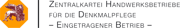 Zentralkartei Handwerksbetriebe für die Denkmalpflege - Eingetragener Betrieb