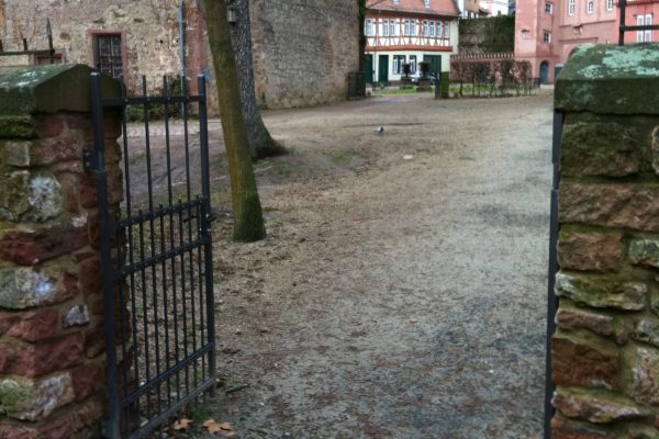 Einfriedung des Schlosses in Erbach
